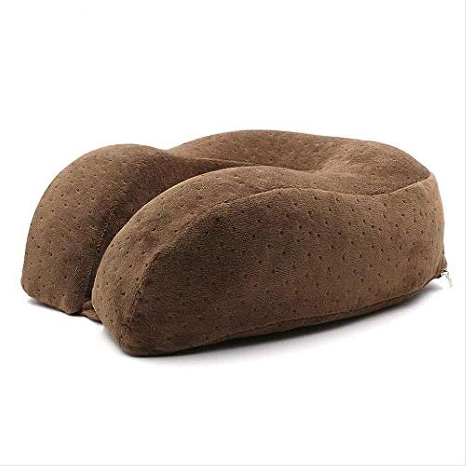 お願いしますトライアスロン事前にU字型枕枕メモリ綿遅いリバウンド枕高める肥厚子宮頸枕飛行機旅行ネックピローネックピローU字型のU字型