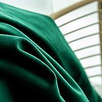 停電 カーテン,北欧 停電 寝室 リビング ルーム ぬいぐるみ カーテン フロント ガラス サンシェード カーテン 1個 濃い緑色 つなぐ300x270cm(118x106inch)
