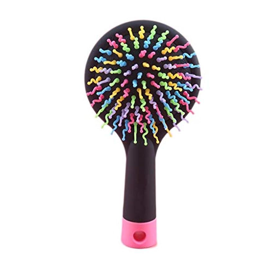 光電ファイター砂のくし児童エアバッグエアクッションコームマッサージヘッドメリディアンコームヘアコームヘアコームくしホームビッグくし (Color : Black)