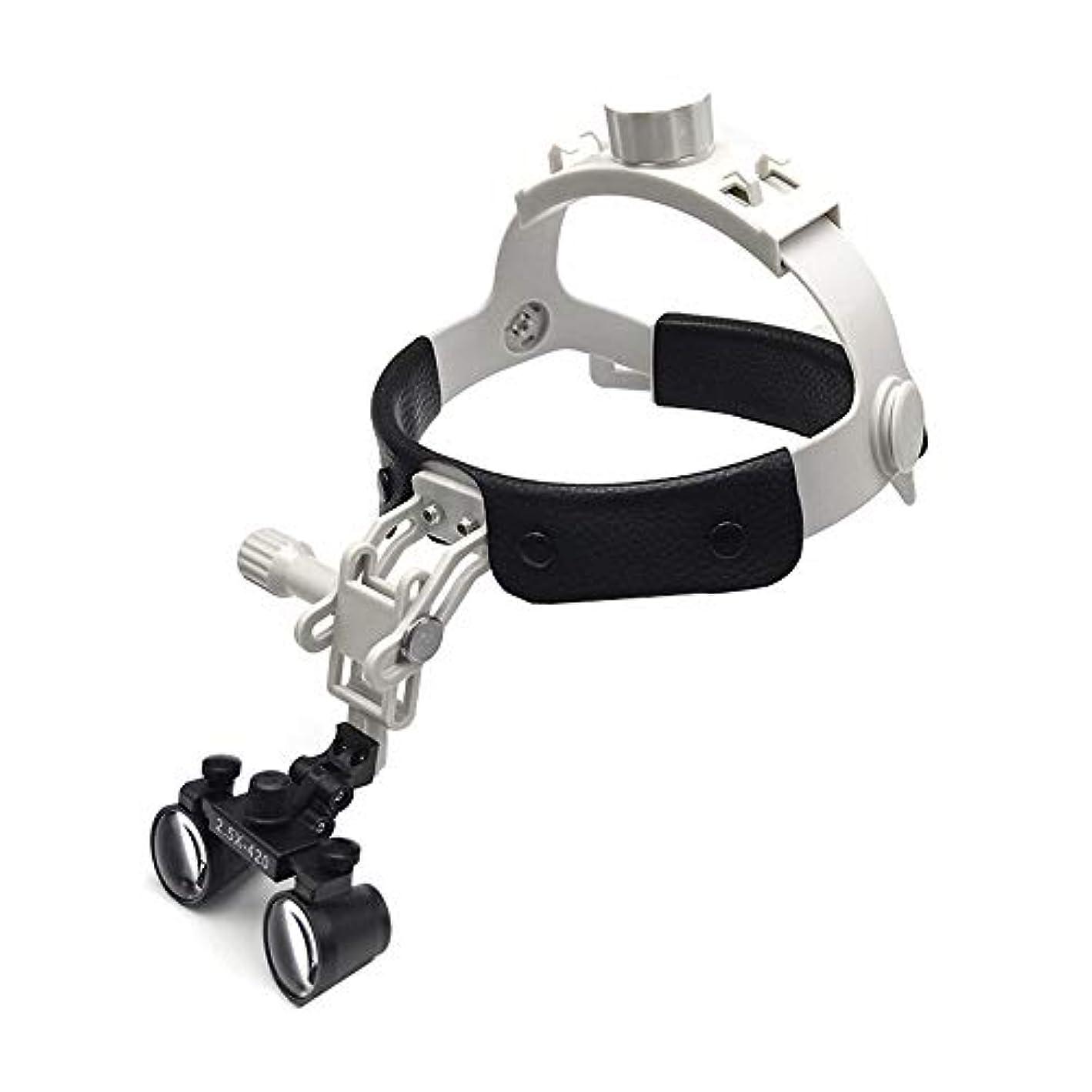 セント縞模様の賭けレザーケアと拡大鏡を身に着けて軽量小型レンズ2.5倍