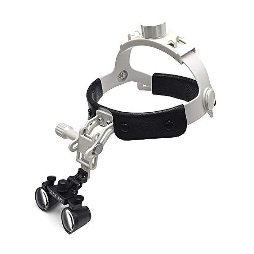 意見許可するくつろぐレザーケアと拡大鏡を身に着けて軽量小型レンズ2.5倍