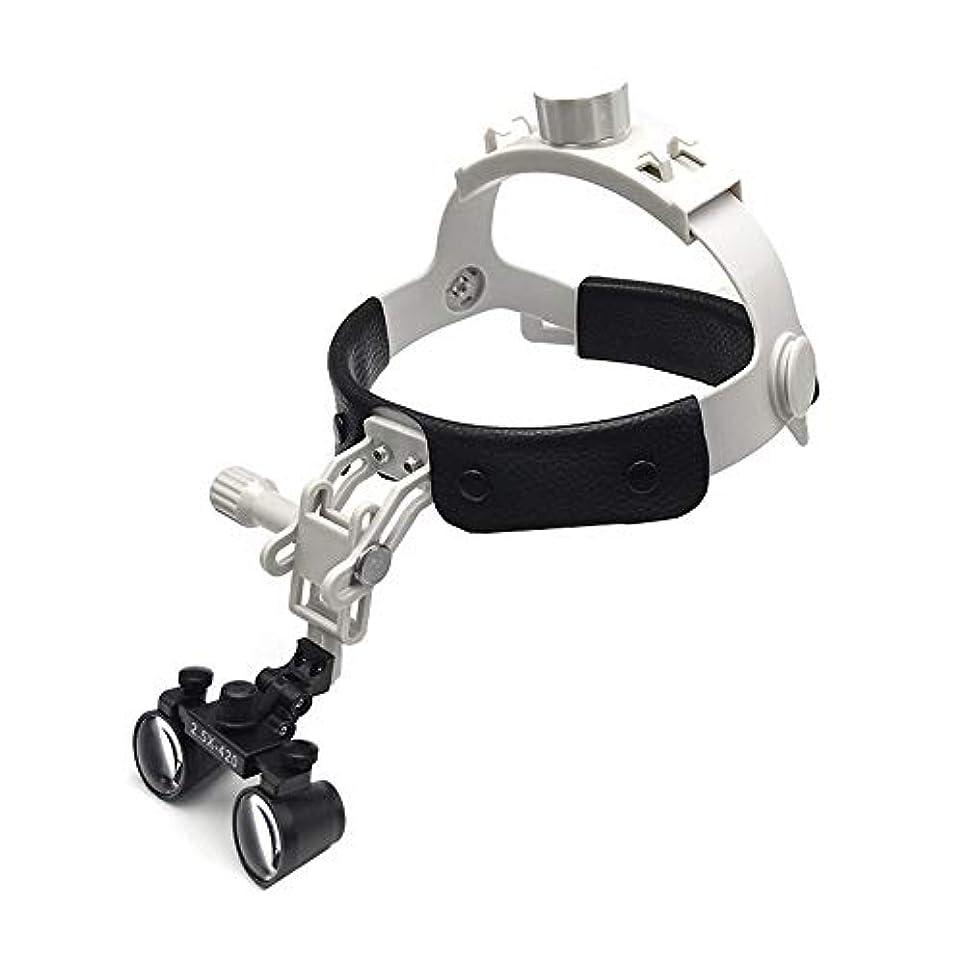 管理者ゴシップリスクレザーケアと拡大鏡を身に着けて軽量小型レンズ2.5倍