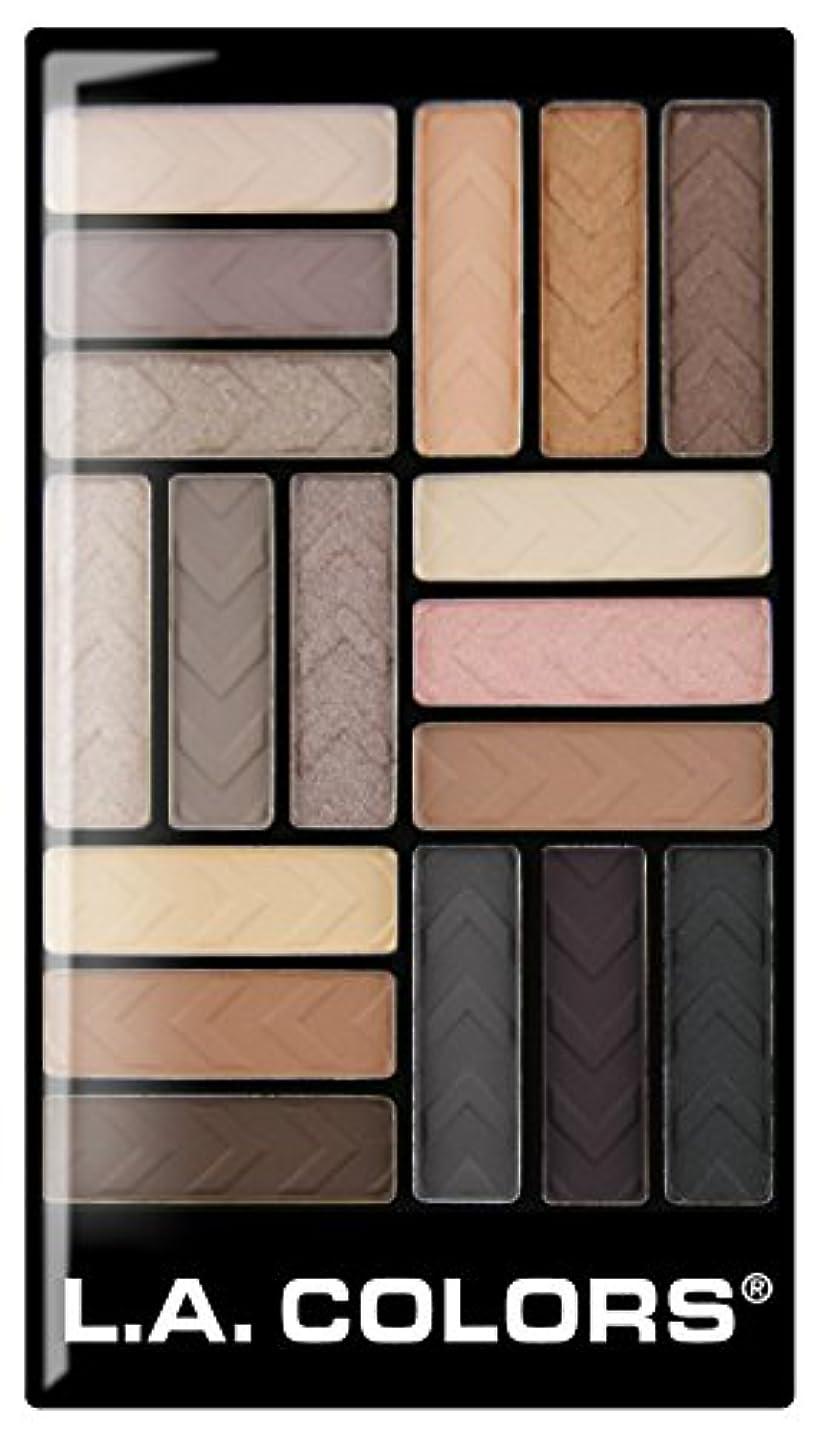 舗装シャンプー陪審L.A. COLORS 18 Color Eyeshadow - Downtown Brown (並行輸入品)