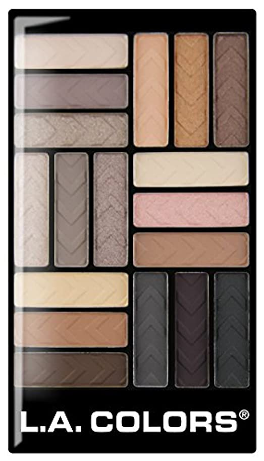 オーバーフローピル神学校L.A. COLORS 18 Color Eyeshadow - Downtown Brown (並行輸入品)