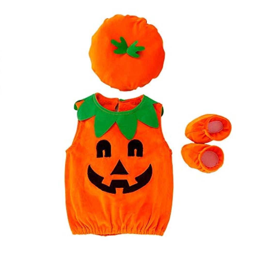 同様にハイジャックガイドMISFIY ハロウィーン かぼちゃ キッズ 子供 新生児 ベビー服 3 セットロンパース 帽子 シューズ 肌着 かわいい 柔らかい 誕生記念 出産祝い 寝相アート