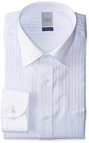 (チョーヤ)CHOYA LORDSON 綿100% 形態安定 サックスドビー クレリックカラードレスシャツ ZOD113 450 450 3982