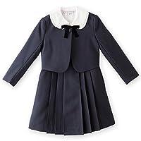 (キャサリンコテージ)Catherine Cottage 女の子スーツ 濃紺アンサンブルスーツセット TK1007 140cm 紺