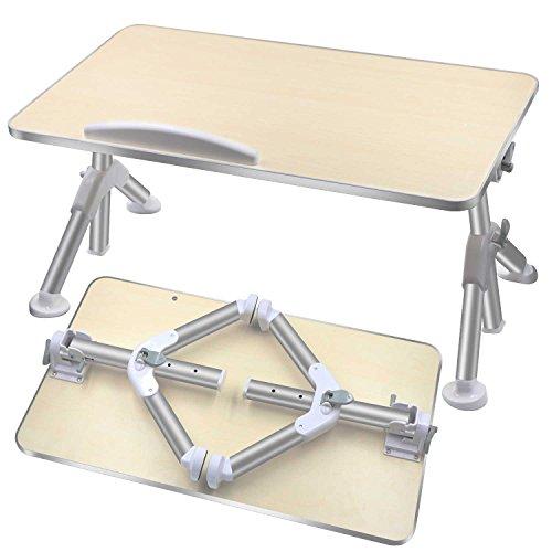 DigHealth 折りたたみ式ノートパソコンスタンド ローデスク ベッドテーブル 高さ角度も調節可能 多機能 ベッド カーペット ソファ オフィス 食事 万能テーブル