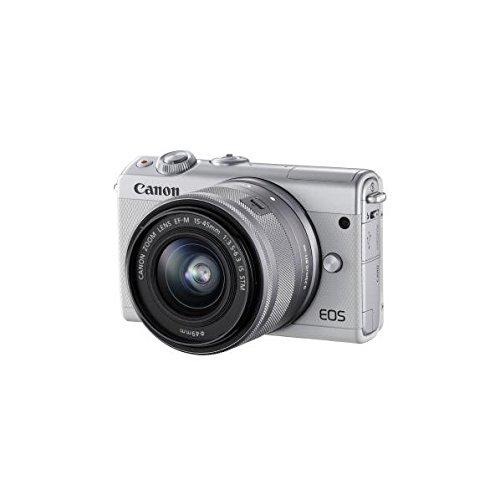 Canonミラーレス一眼カメラEOSM100EF-M15-45ISSTMレンズキット(ホワイト)EOSM100WH1545ISSTMLK