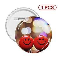 笑う キャンディ 缶バッジ ボタンバッジ 缶バッチ ピンバッチ バッジ コレクション Badge Button ボタンブローチ おもちゃ雑貨 工芸品 簡単 軽量 リュック トートバッグ ラペルピン ジャケット