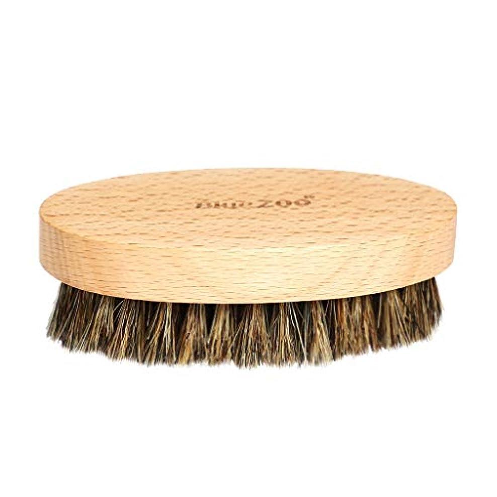 Perfeclan シェービングブラシ 硬い毛 ひげブラシ 男性 髭剃り 清潔用