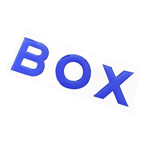 新型 N-BOX NBOX カスタム JF3 JF4 リア エンブレム ドロップ ステッカー 樹脂盛りポッティング シール リヤ 外装 ドレスアップ アクセサリー カスタム パーツ 【ブルー】