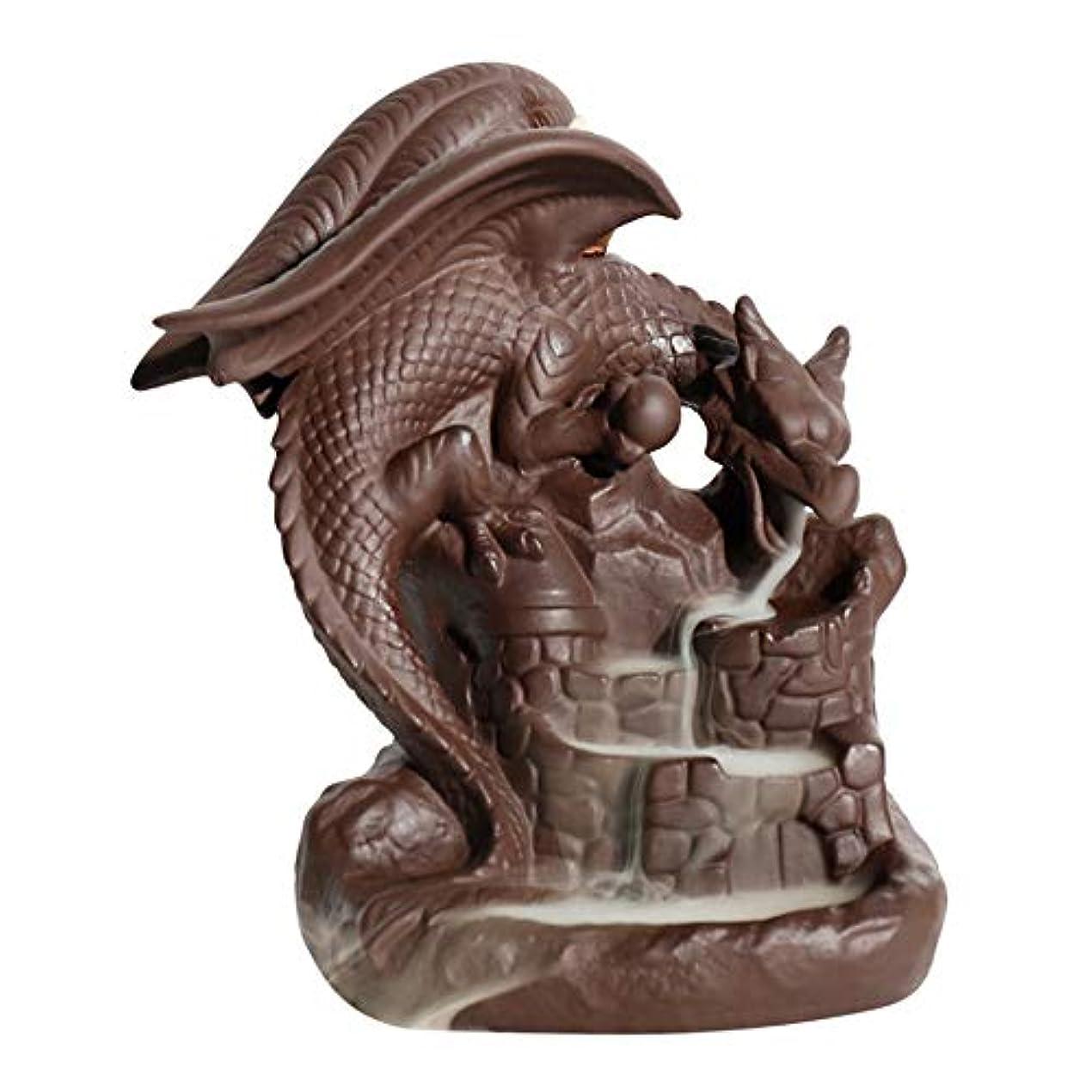六望むハイブリッド逆流香バーナー、香バーナードラゴンホルダー中国セラミック、10個入り逆流香ホルダー逆流香コーン理想的なギフトホーム手芸装飾