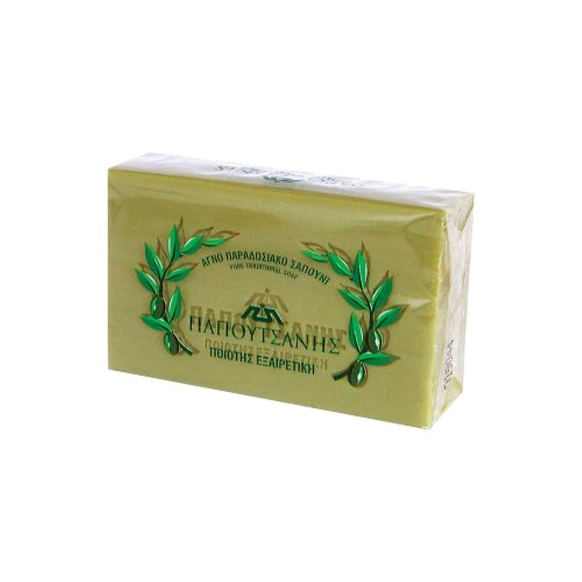 食堂医薬品高揚したギリシャの石鹸 パポタニス125g