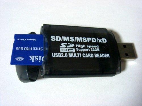 変換名人 カードリーダー 小型マルチカードリーダー MUL-USB2