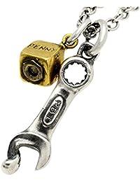 [ダグダート] DAgDART ペンダント ネックレス シルバー ブラス 真鍮 ユニーク スパナ アンティーク ダイス メンズ DT-427