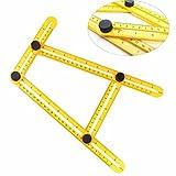 Letion Angleizer テンプレートツールは、測定すべての角度定規ツールと角度テンプレートツール、やポーター、ビルダー、職人便利屋 (黄)