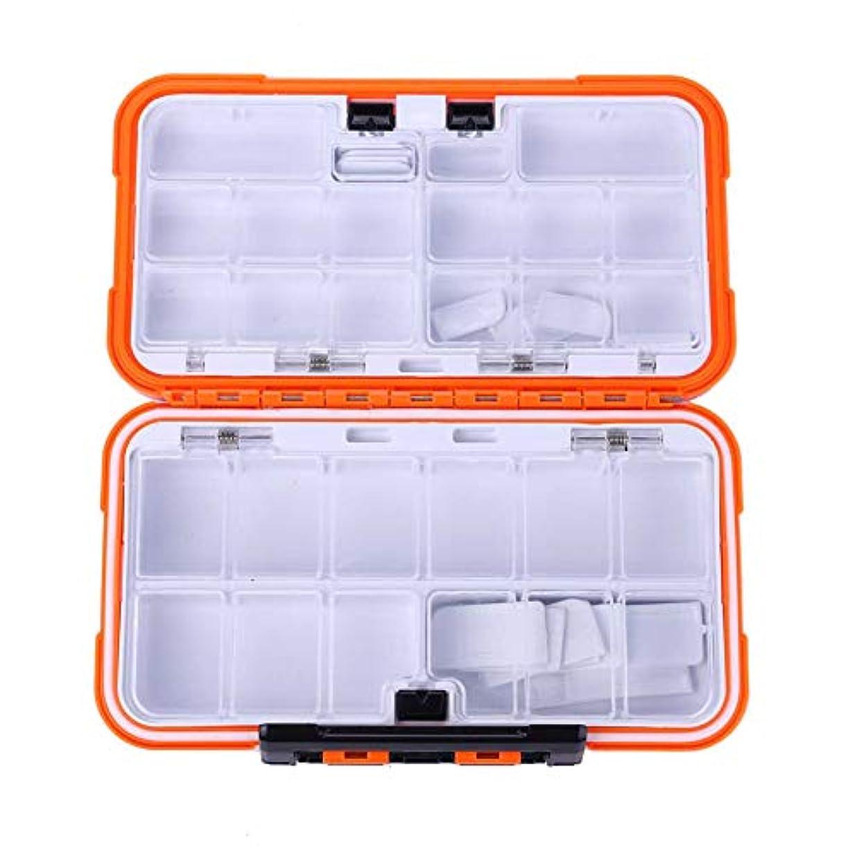 ディスク鮫祝福BOBORA ルアーケース 釣具収納 防水 仕掛け 小物入れ 高強度ABSプラスチック 軽量 収納 フィッシング アクセサリー オレンジ 三つサイズ