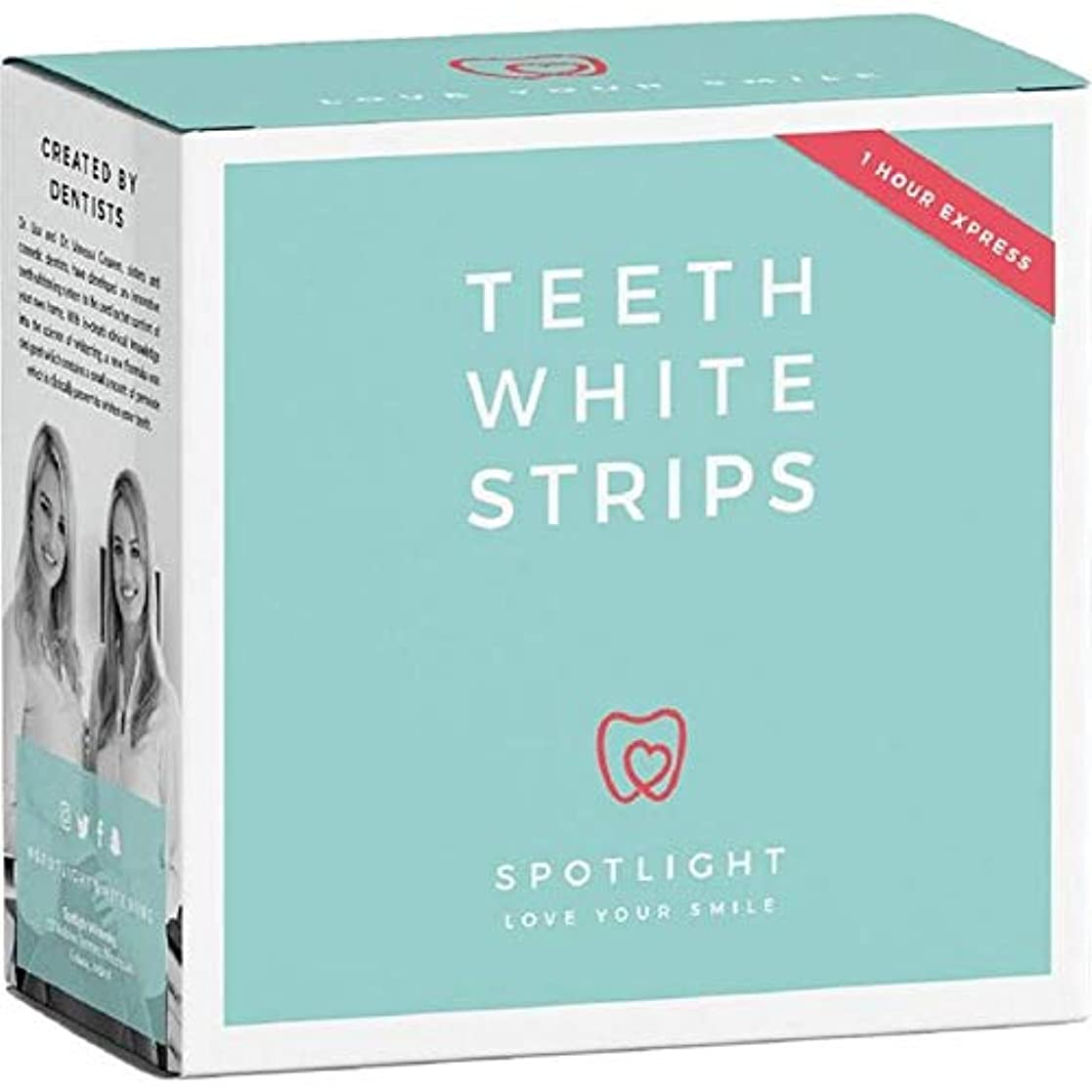 コマースハイブリッドささやき[Spotlight Teeth Whitening ] スポットライトホワイトニング歯ホワイトストリップ - Spotlight Whitening Teeth White Strips [並行輸入品]