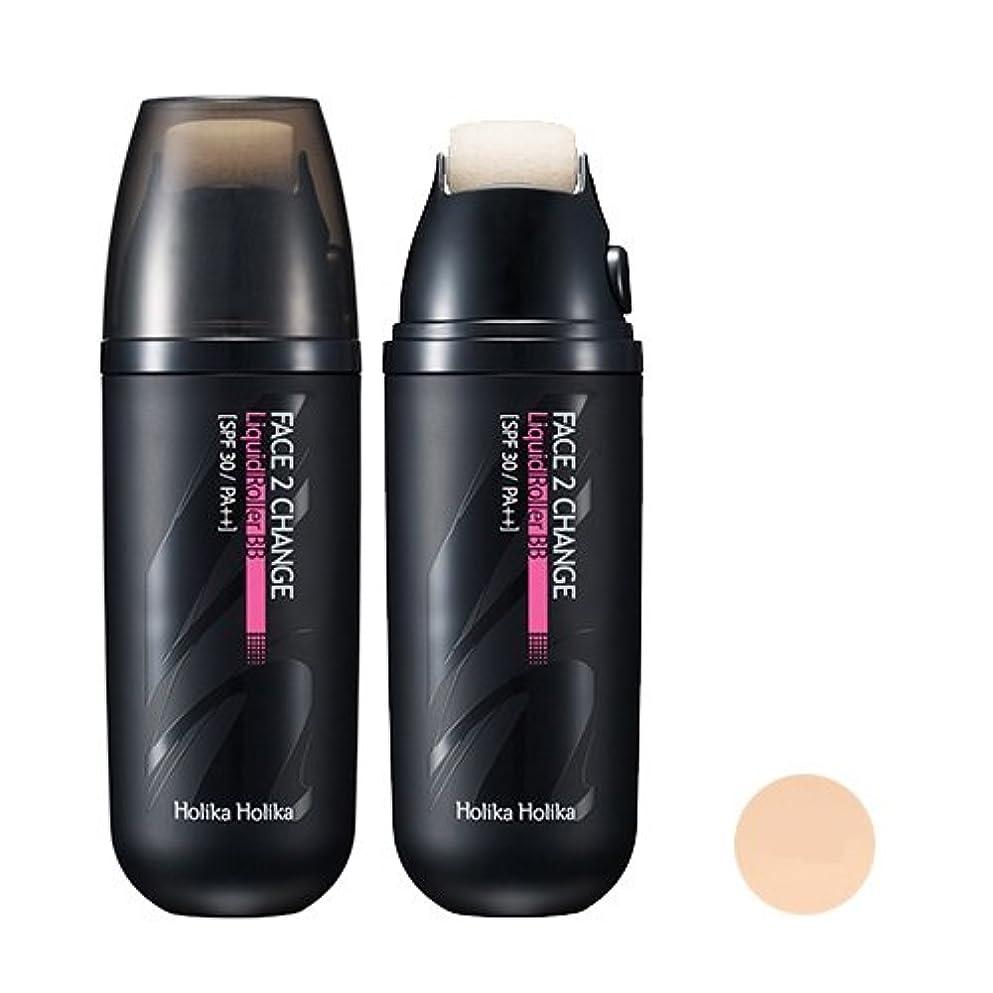 ボーダーインドラッシュ[Holika Holika/ホリカホリカ] フェイス 2チェンジ リキッドローラーBB クリーム (SPF30 PA++) 2タイプ?韓国コスメ/ Face 2 Change Liquid Roller BB Cream...