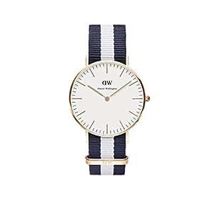 (ダニエルウェリントン)Daniel Wellington ダニエルウェリントン 腕時計 クラシック 36mm レディース シルバー 0602DW グラスゴー ネイビーxホワイト マルチカラー トリコロール 男女兼用 [並行輸入品]