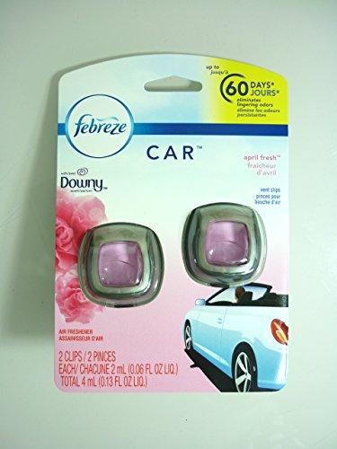 【Febreze/ファブリーズ】 車用芳香剤 (イージークリップ) 2個入り ダウニー エイプリルフレッシュ Car Vent Clips Downy April Fresh Air Freshener, 0.06 oz, 2 count [並行輸入品]