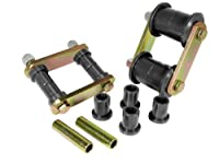 Prothane 1-813-BL Black Rear HD Shackle Bushing Kit [並行輸入品]