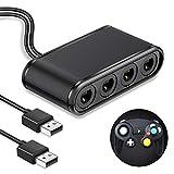 ゲームキューブコントローラ用接続タップ BEBONCOOL Nintendo Switch & WiiU&PC用大乱闘スマッシュブラザーズ対応 GC コントローラー用 転換 アダプター