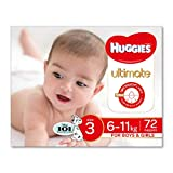 Huggies Ultimate disposable nappies feature a New DRYTOUCH® Layer, making them our driest nappies, with up to 12 hours leakage protection now suitable for both boys & girls. Our softest nappies featuring silk soft sides to provide protect...
