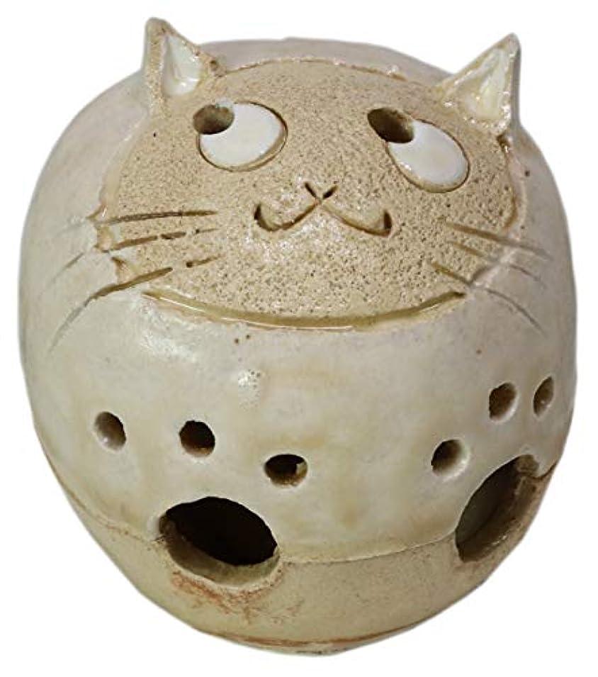 筋落花生バッフル香炉 丸猫 香炉(小) [H6cm] HANDMADE プレゼント ギフト 和食器 かわいい インテリア