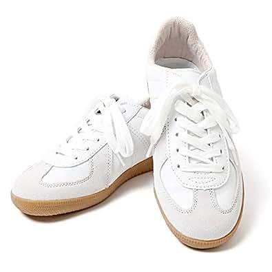 (エムエイチエー) M.H.A.style ジャーマントレーナー ホワイト ドイツ軍レプリカ 白 靴 スニーカー 10039 ホワイト