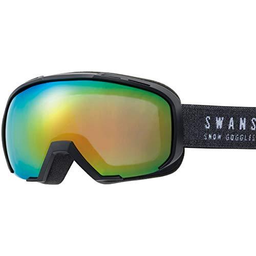 SWANS(スワンズ) スキー スノーボード ゴーグル くもり止め メガネ使用可 ミラー スキー スノーボード 080-MDHS MBK