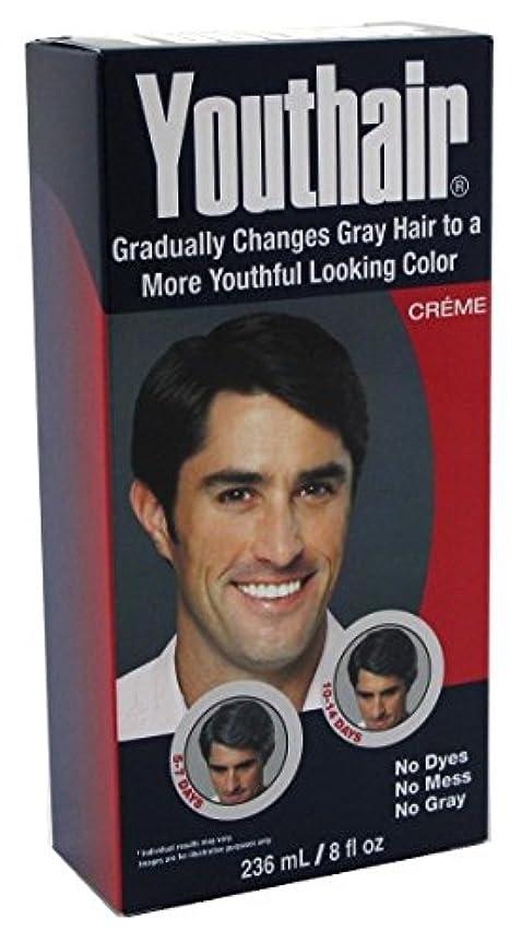吸収剤キャッチ母YOUTHAIR Creme for Men with Hair Conditioner & Groomer Restore Natural Color Gradually 8oz/236ml by Youthair