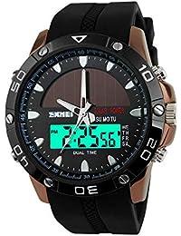 メンズ セイコー ソーラー 電波 腕時計 レディース 日本的なストップウォッチ付き 双機軸 個性的なデジタル多機能 led watch 防水性 学 生時代うで時計 ledディスプレイ 日本製電源 ファション アウトドアウォッチ
