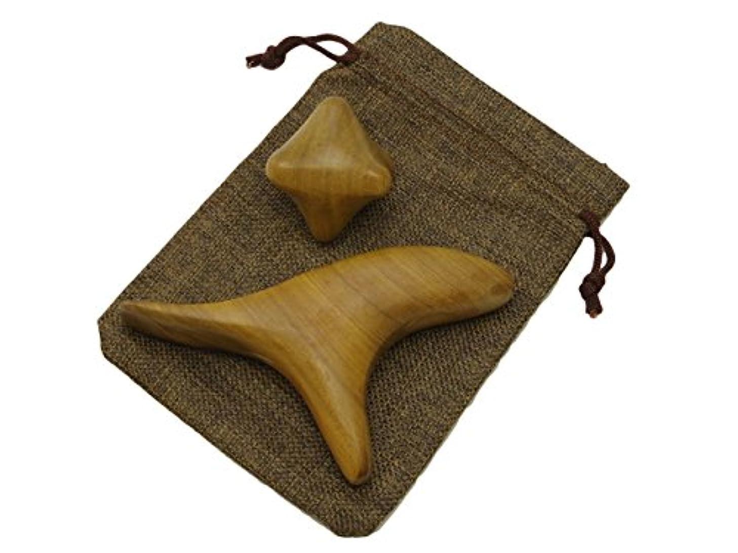 樫の木ブーム質素なImport miscellaneous goods 木製 指圧 棒 ツボ 押 マッサージ 器 つぼ リンパ 足 裏 かっさ 1