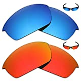 Mryok 2 Pair Polarized Replacement Lenses for Oakley Flak Jacket Sunglass - Options