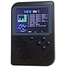 SODIAL Retro Mini Portable Handheld Game Console Players 3.0 Inch 8 Bit Classic Video Handheld Game Console Black