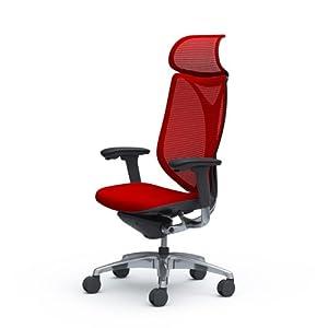 オカムラ サブリナ オフィスチェア スマートオペレーション エクストラハイバック ブラックフレーム レッド C885BR-FSY9