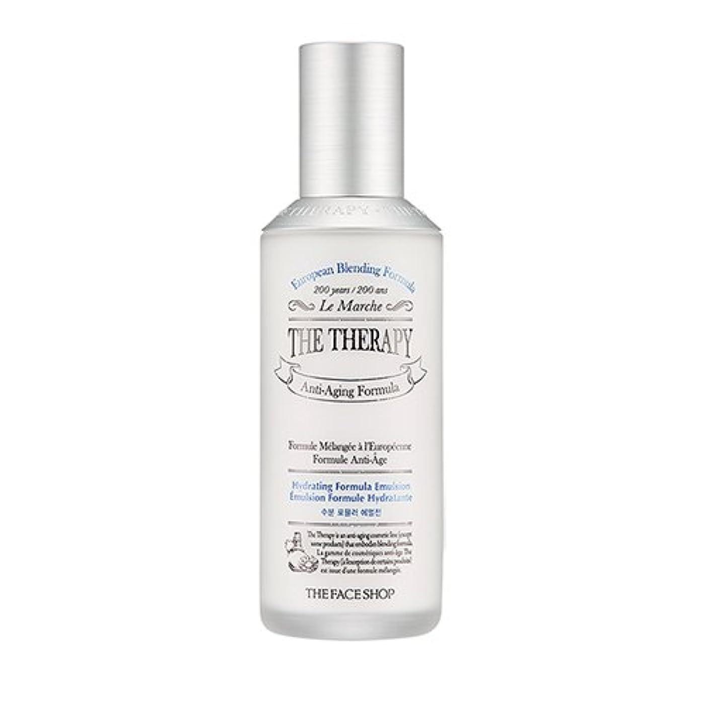 リボン旅行心配するTHE FACE SHOP The Therapy Hydrating Formula Emulsion 130ml/ザフェイスショップ ザ セラピー ハイドレーティング フォーミュラ エマルジョン 130ml