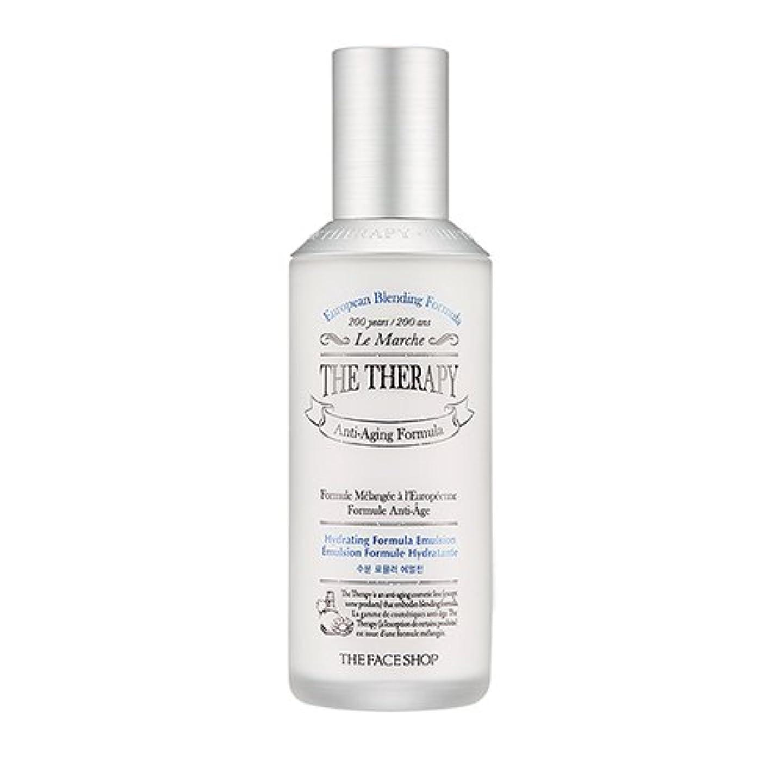 リム加速する散るTHE FACE SHOP The Therapy Hydrating Formula Emulsion 130ml/ザフェイスショップ ザ セラピー ハイドレーティング フォーミュラ エマルジョン 130ml