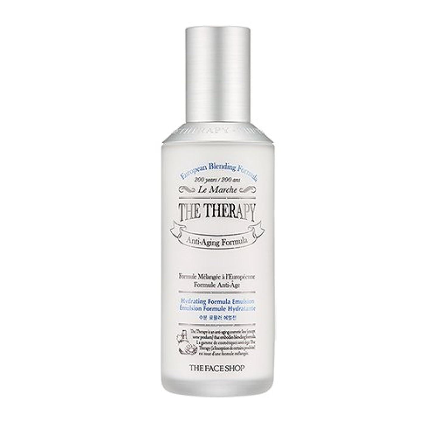 シェアぬるいパイプTHE FACE SHOP The Therapy Hydrating Formula Emulsion 130ml/ザフェイスショップ ザ セラピー ハイドレーティング フォーミュラ エマルジョン 130ml