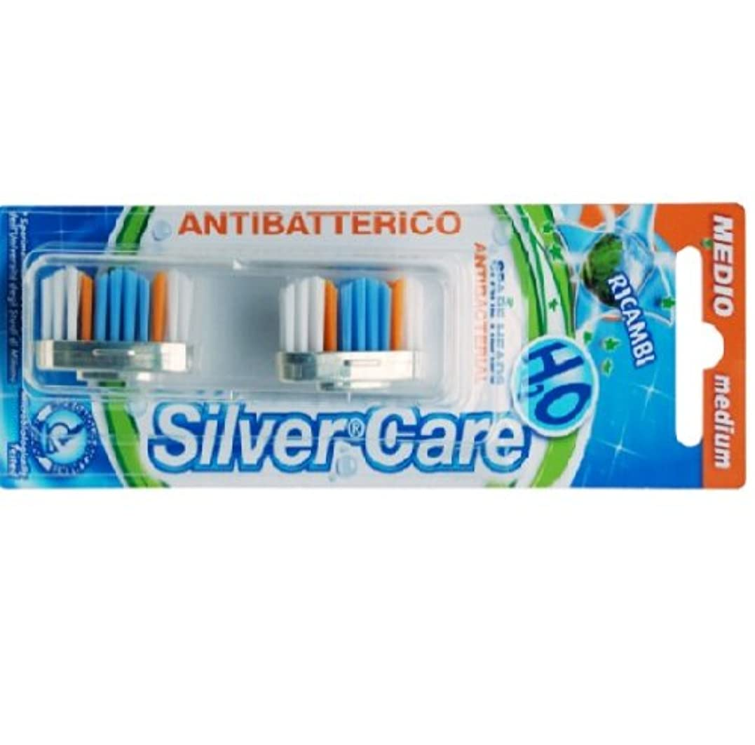 堂々たるコンプリート検出可能シルバー抗菌歯ブラシ スペア 普通