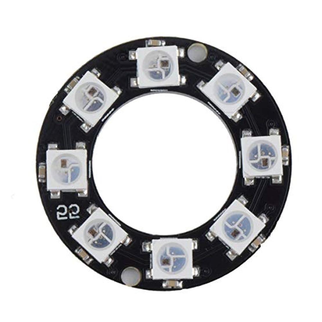 面積検証気づかないTivollyff LEDリング8 x WS2812B 5050 RGB統合ドライバArduino 8ビットY45超高輝度スマートLedリングブラック