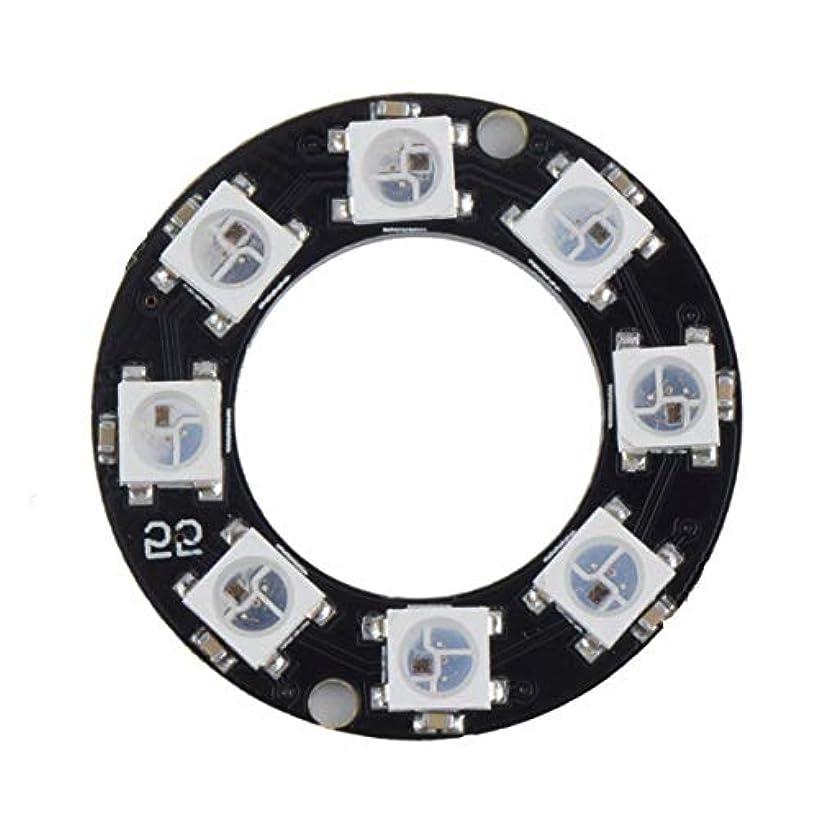 手配する後者上向きTivollyff LEDリング8 x WS2812B 5050 RGB統合ドライバArduino 8ビットY45超高輝度スマートLedリングブラック