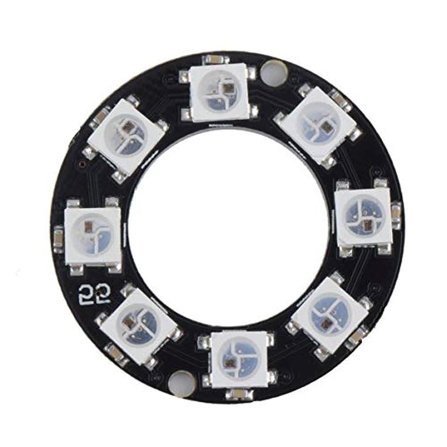バンド農民販売員Tivollyff LEDリング8 x WS2812B 5050 RGB統合ドライバArduino 8ビットY45超高輝度スマートLedリングブラック