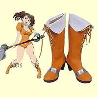 COSSKY 七つの大罪 サーペント・シン ディアンヌ コスプレ靴 cosplay コス 靴 ブーツ 下駄 ハイヒール シューズ (27.5cm)