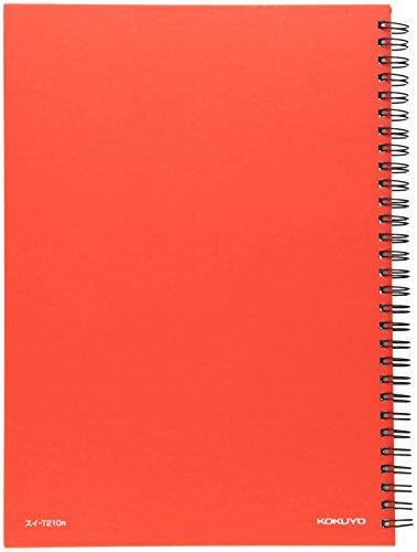 コクヨ 家計簿 ツインリングとじ B5 64枚 赤 スイ-T210R