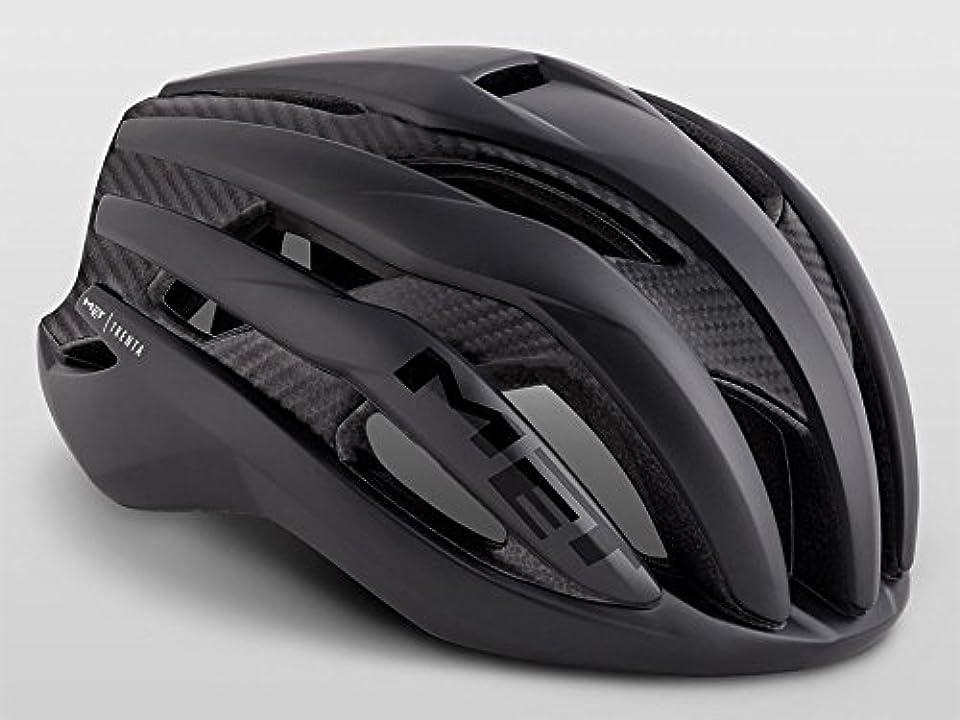 強化するスリーブ描写MET(メット) TRENTA 3K CARBON(トレンタ 3K カーボン) ヘルメット ブラック