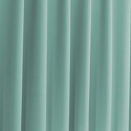 窓美人 エール 遮光性カーテン&UVカットミラーレース 各1枚 幅150×丈230(228)cm エメラルドグリーン