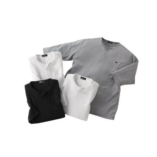 (フランコ コレツィオーニ)Franco Collezioni 七分袖Tシャツ4枚組 40608  マルチカラー L